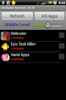 Screenshot of Epic Task Killer