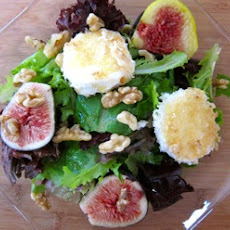An Autumn Salad of Figs and Toasted Goat Cheese