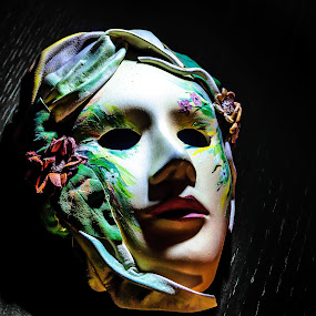 DARE TO LOOK BEHIND THE MASK??? by Adrian Marin - Artistic Objects Antiques ( face, romanian, mask, pain, beauty, spring )