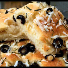 Focaccia Bread Herbed With Black Olive & Fresh Rosemary