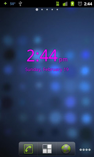 Pink Digital Clock Widget