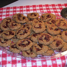 Raspberry Almond Oatmeal Cookies