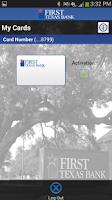 Screenshot of First Texas Bank