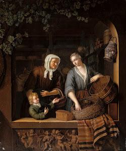RIJKS: Frans van Mieris (II): The Grocer's Shop 1715