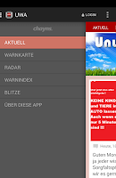 Screenshot of Unwetteralarm Deutschland