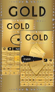 Free gold go keyboard theme APK for Windows 8