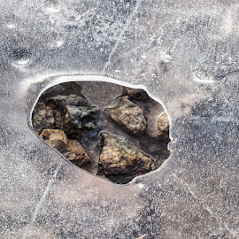 Hole in ice by Mauro Amoroso - Nature Up Close Rock & Stone ( mountain, winter, cold, ice, ceresole, hole )