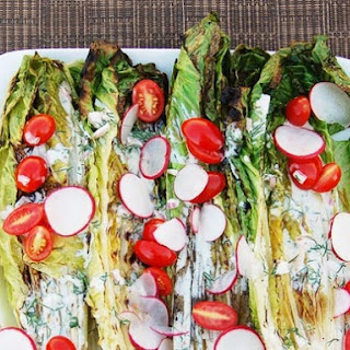 Grilled Romaine Hearts with Buttermilk-Dill Dressing
