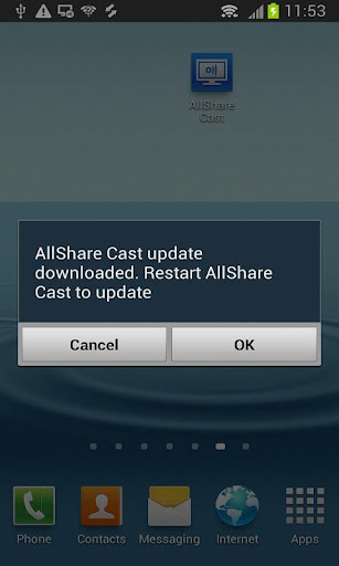 AllShareCast Dongle S W Update