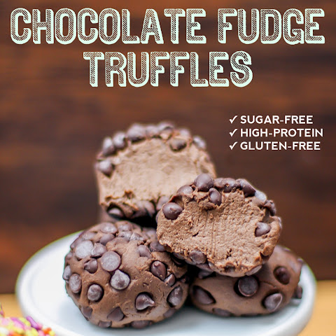 Healthy Chocolate Fudge Truffles (sugar free, low carb, low fat, high fiber, high protein, gluten free)