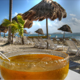 A Fine Day at the Beach by Jeff Grim - Food & Drink Alcohol & Drinks ( drink alcohol beach relaxing ocean marguerita,  )