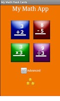 Screenshot of My Math Flash Cards App