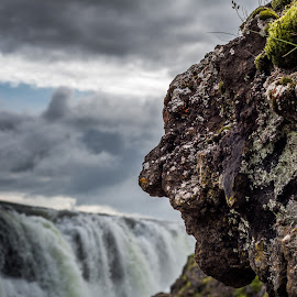 Troll in Iceland by Arnar Sigurbjörnsson - Nature Up Close Rock & Stone ( kolugljufur, kolugljúfur, guide to iceland, face in rocks, waterfall in iceland, touring iceland, nv iceland, iceland, tröllskessan kola, travel in iceland, tröllskessa, canon 650d, north iceland, kolufossar, rocks )