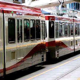 by Alexandra  Brydges - Transportation Trains ( train, transportation, city,  )