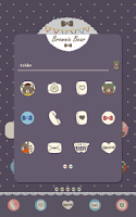 Screenshot of brown bear dodol theme