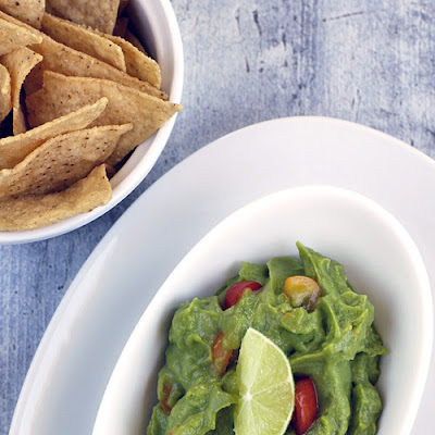 Easy Vegan Guacamole Recipe with Lime + Sweet Cherry Tomatoes
