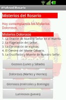Screenshot of #YoRezoElRosario