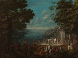 RIJKS: Jean Baptiste Vanmour: Ladies' Outing at Hünkâr İskelesi along the Bosporus 1737