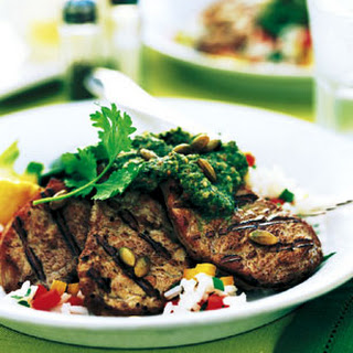 Grilled Pork Tenderloin with Pipian Sauce
