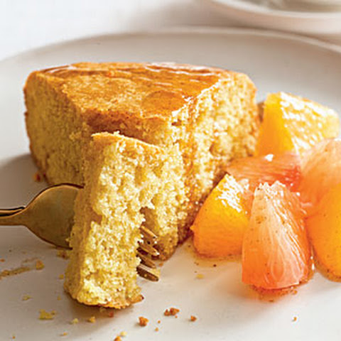 Citrus Ginger Cake with Spiced Orange Compote Recipe | Yummly