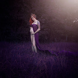 by Chrystal Olivero - People Maternity ( maternity, mother, purple, woman, people, portrait )