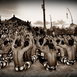 Balinese Kecak Dancers by Rizal Ismail - People Musicians & Entertainers (  )
