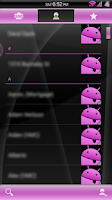 Screenshot of Gloss Pink CM11/AOKP Theme