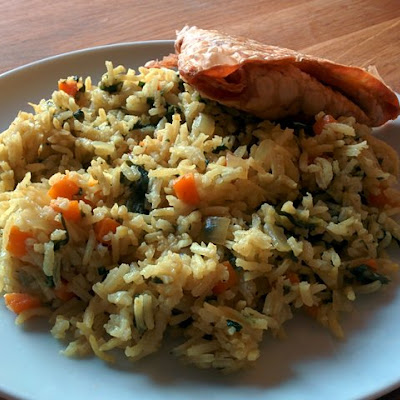 Spinach and Carrot Pilau