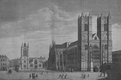 Engraving of Westminster Abbey