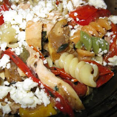 Roasted Vegetable Pasta Salad With Grilled Chicken
