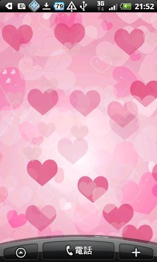 LOVEピンクハートの壁紙