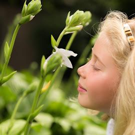 Summer Day by David Slack - Babies & Children Children Candids ( summer, flowers )