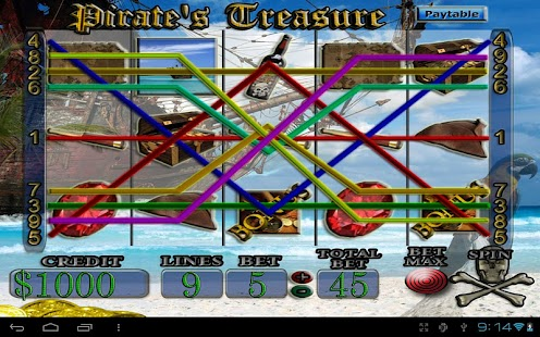 Pirate's Treasure Slot Machine - screenshot