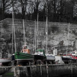 Dysart Harbour by Kate L Davage - Transportation Boats ( fife, scotland, harbour, boats, dysart )