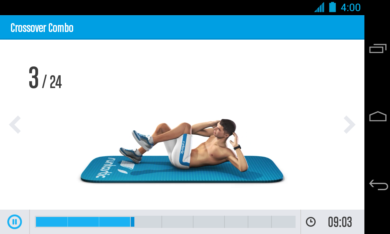 Runtastic Six Pack Ab Workout Screenshot 2