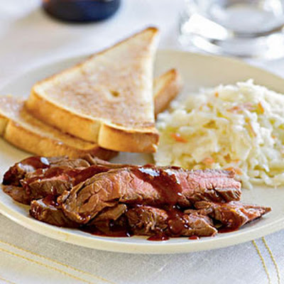 Quick Barbecue Flank Steak