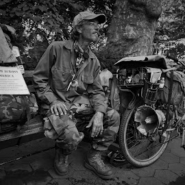 March Across America by Victor Mirontschuk - People Street & Candids ( environment, bike, veterans, activist, nyc, people,  )