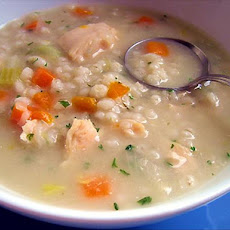 Chunky Chicken and Barley Soup