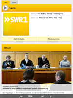 Screenshot of SWR1 Baden-Württemberg Radio