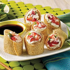 Strawberry Mint Spring Rolls