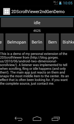 snapping scroll view demo
