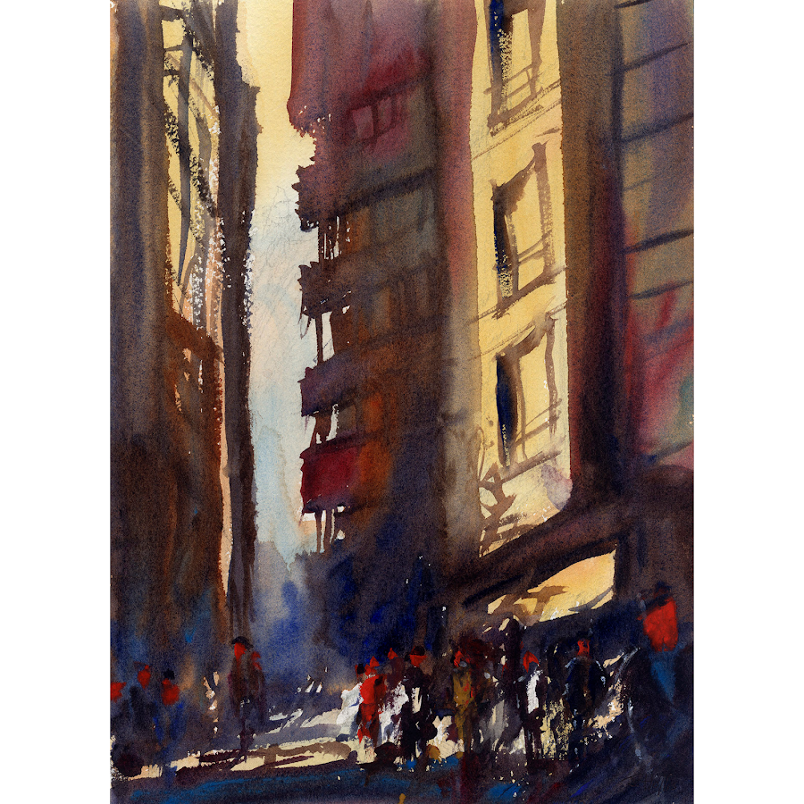 London painting art abstract watercolour