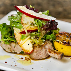 Roasted Pork With Apple Parmesan Salad