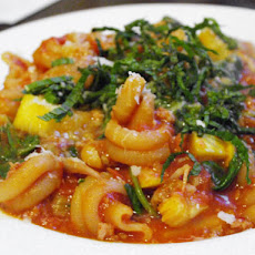 Pasta with Spicy Sausage, Baby Spinach and Creamy Butternut Sauce ...
