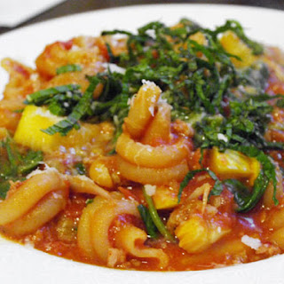 Skillet Pasta with Sausage, Squash, and Spinach