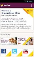 Screenshot of Ashford University Mobile