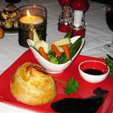 Mini Beef Wellingtons and Red Wine Sauce