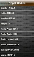Screenshot of Nepali Radio Nepali Radios