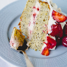 Lemon and Poppy Seed Cake with Strawberry Cream