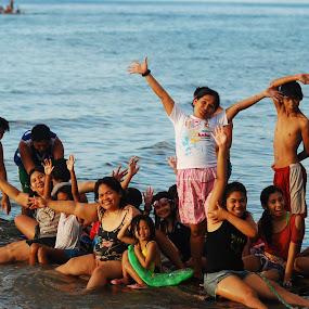 Life is like a Beach by Reagan Estrella - People Family ( shore, full, family, happy, boarding, beach )